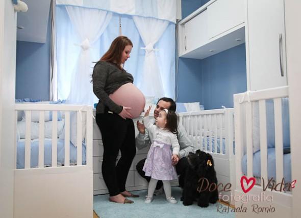 ensaio da gravidez trigemelar