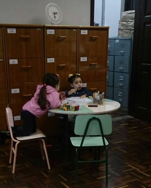 Mônica e sua primeira amiga na escola